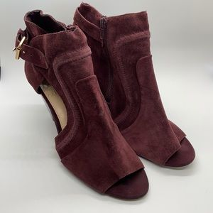 Vince Camuto Ennley Suede Zip Buckle Ankle Boot